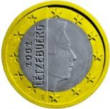 1 euro (other side, country Luxemburg) 1